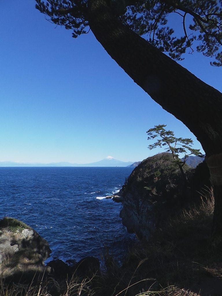 Ein andere Sicht auf den Berg Fuji, Kumomi Onsen, Shizuoka, Japan