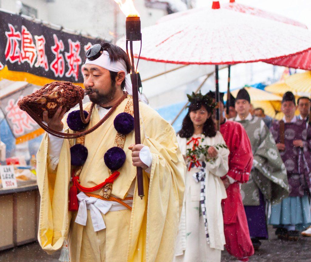 Eine Parade in Sekkyu Hanamizuiwai