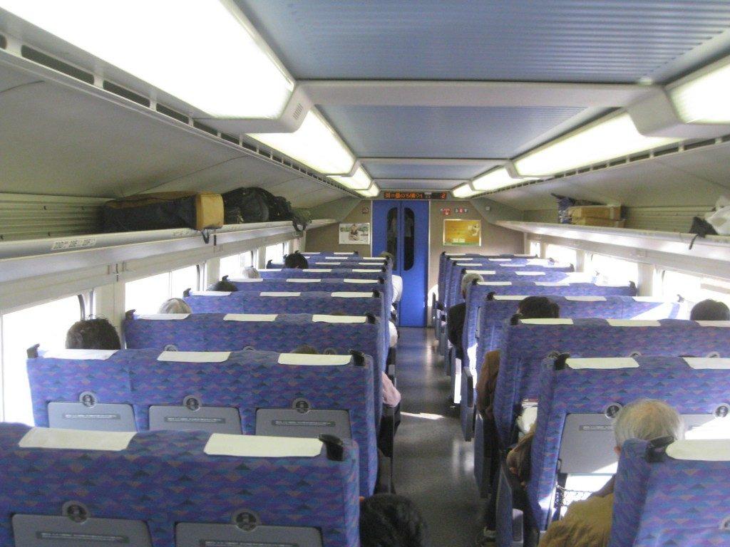 Im Shinkansen nach Yamakoshi, Niigata, Japan