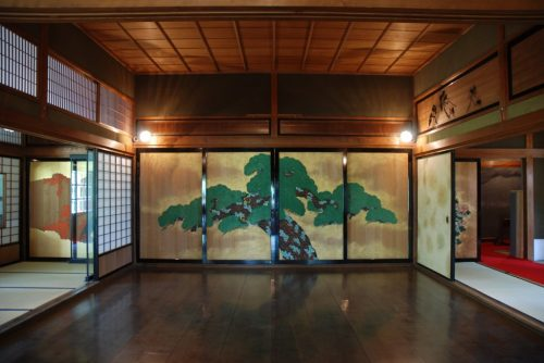 Noh Bühne in der Takatori Residenz, Saga, Japan