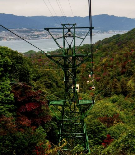 Die Seilbahn des Berges Misen, Hiroshima, Japan