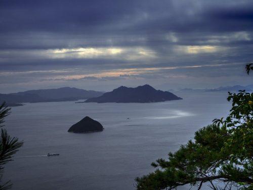 Blick des Gipfel des Misen, Miyajima, Hiroshima, Japan.