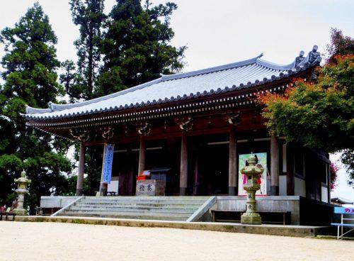 Misen Hondo, der Hauptpavillon des Bergs Misen, Miyajima, Hiroshima, Japan.
