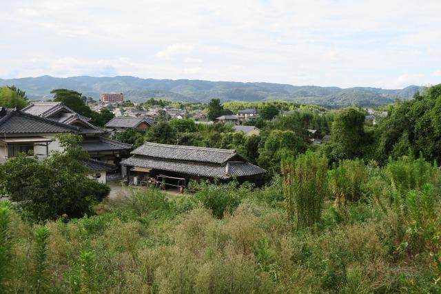 Die Aussicht versetzt uns zurück in die Edo-Ära, Kitsuki, Oita, Japan