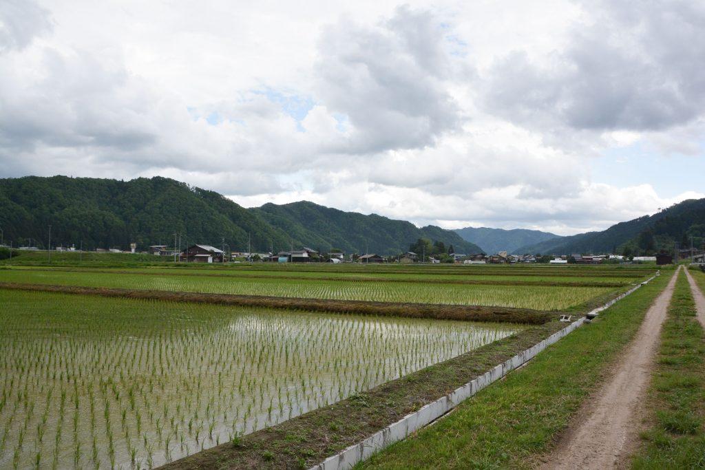 Entdecken Sie die japanische Landschaft, Satoyama in Hida, Gifu, Japan