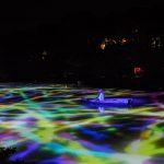 Die künstlerische Lichtinstallation von Teamlab im Mifuneyama Rakuen in Saga