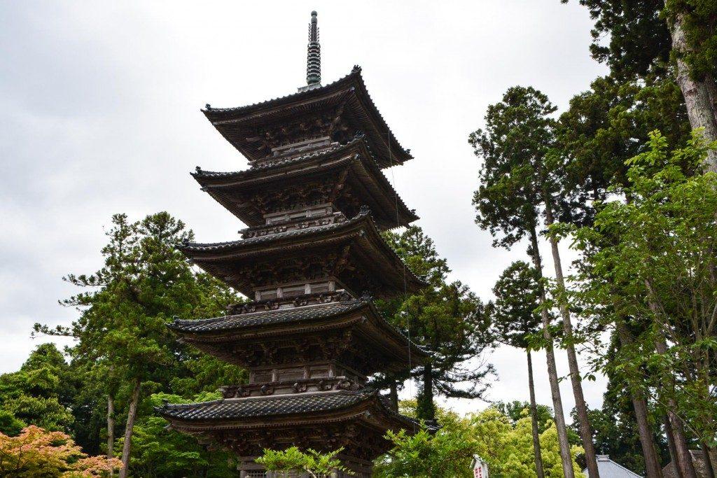 Pagode auf der Insel Sado in Niigata, Japan