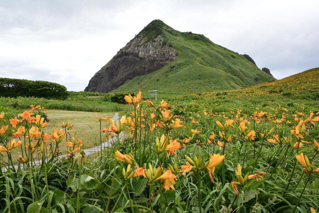 Einzigartige Landschaft auf der Insel Sado in Niigata, Japan
