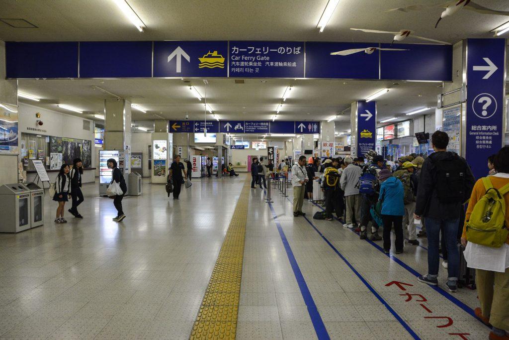 Fährterminal auf dem Weg zur Insel Sado in Niigata, Japan