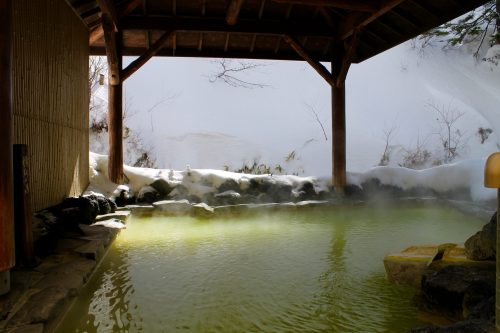 Freiluftbad im Manza Kogen Hotel