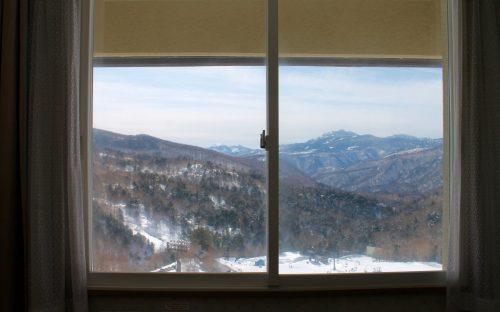 Aussicht aus dem Hotelzimmer
