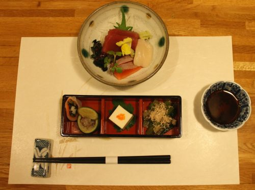 Erste Gang im Kaiseki Menü