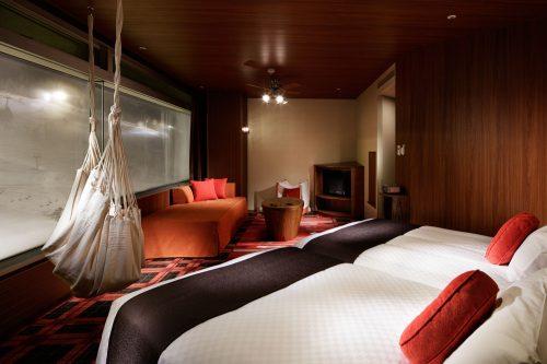 Das Danran Hängematten Zimmer im Naeba Prince Hotel