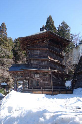 Aizu Wakamatsu: Die Pagode ist in ihrer Bauart kein zweites Mal auf der Welt zu finden.