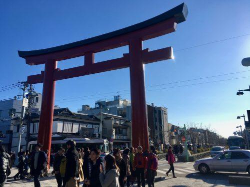 Tori Gate of Tsurugaoka Hachimangu Shrine in Kamakura, Japan.