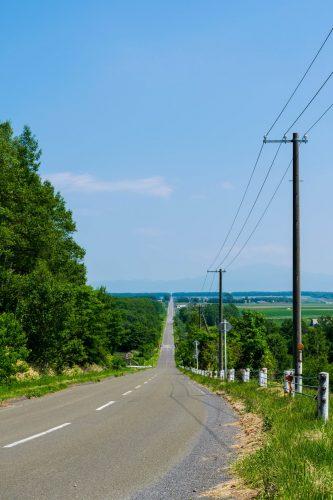 Eine Radtour im östlichen Hokkaido, Koshimizu, Japan.
