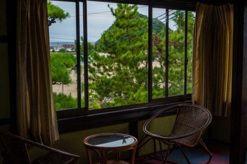Warakuso Minshuku: Ein traditionelles japanisches Gasthaus in der Präfektur Fukui, in der Nähe von Kyoto, Japan.