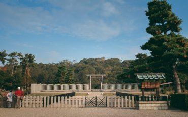 Kofun, riesige kaiserliche Begräbnisstätten in Sakai, Osaka, Kinki, Japan.