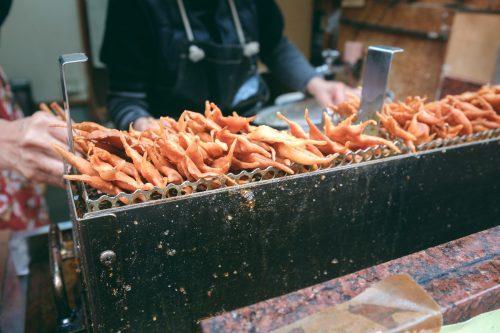 Den Herbst entdecken und schmecken in den Bergen von Mino, Osaka, Region Kinki, Japan.