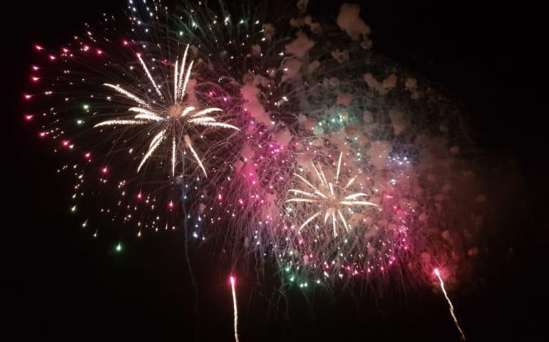 Feuerwerk in Nagaoka, Präfektur Niigata, Japan.