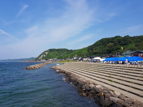 Die Seaside Line von Niigata, Japan.
