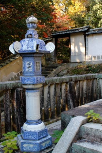 Porzelanlaterne, Sogenji Tempel in Okayama, Japan.