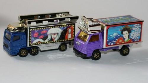 Camiones dekotora de juguete