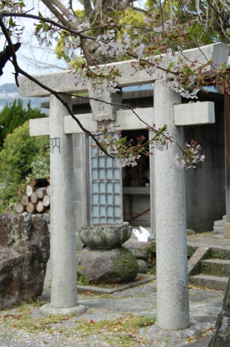 Arco torii del jardín del templo Enmeiji de Nagasaki