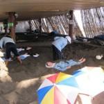 Ibusuki: playa humeante y baños de arena volcánica