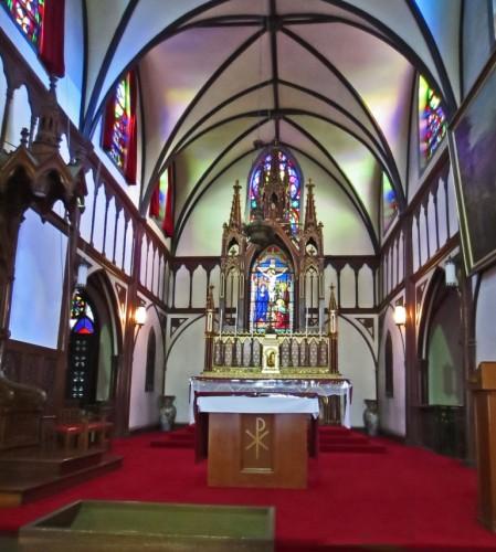 Interior de la Iglesia de Oura en Nagasaki