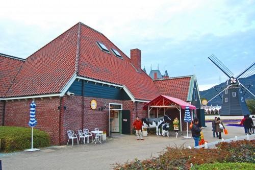 Tienda de quesos en Huis Ten Bosch, parque temático holandés en Nagasaki