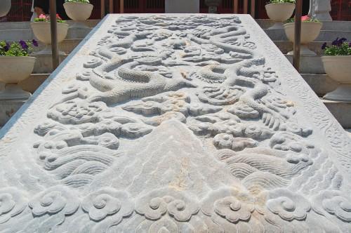Dragones de piedra 'mido' del Templo Confucionista de Nagasaki