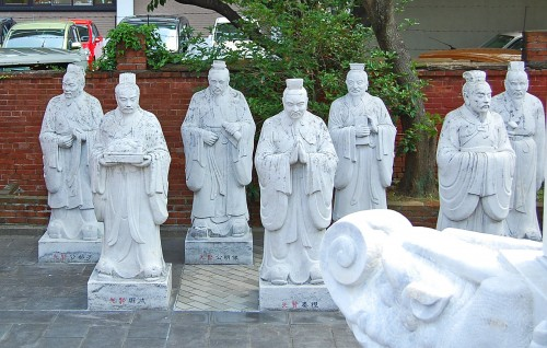 Estatuas del Templo Confucionista de Nagasaki