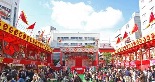 Escenario principal del Festival de las Linternas de Nagasaki