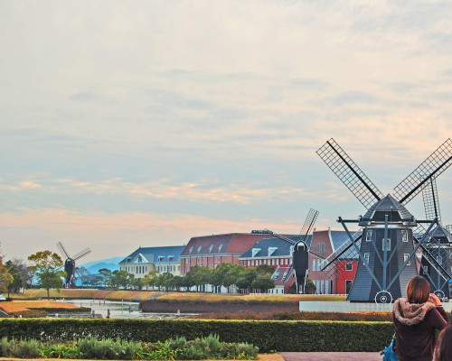 Molinos holandeses en Huis Ten Bosch, parque temático holandés en Nagasaki