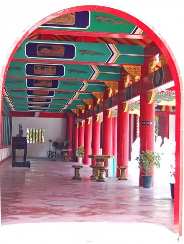 Pasillo del Templo Confucionista de Nagasaki