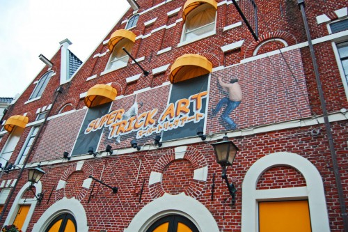 Atracción Trick Art de Huis Ten Bosch, parque temático holandés en Nagasaki