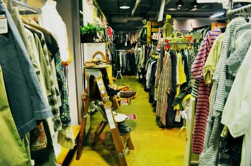 Tienda de ropa vintage nueva y de segunda mano en Hiroshima