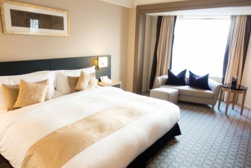 Habitación doble en un hotel convencional japonés