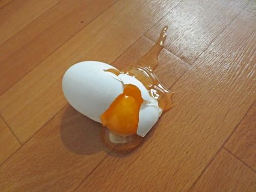 Huevo roto, mottainai.
