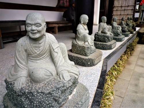 Patio del Templo Hie, en Shuzenji (Shizuoka).