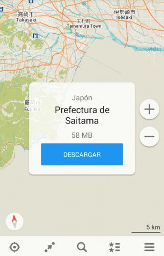 Maps.me, una de las mejores aplicaciones de mapas offline.