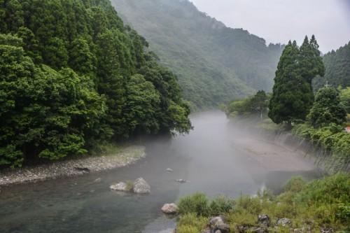 Paisajes de Oita, antes de llegar a Saiki.