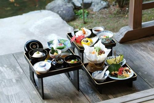 Menú en un templo de Koyasan.
