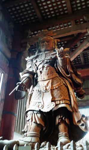 Statue Shūkongō-jin du Hokke-dō au temple Tōdai-ji de Nara