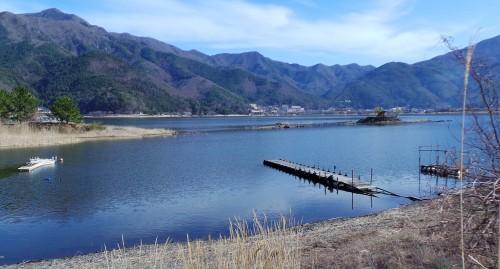 Vue sur le lac Kawaguchiko