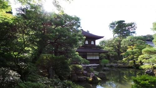 Vue du temple Ginkaku-ji ou Pavillon d'Argent à Kyoto