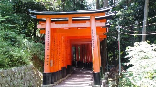 Vue du sanctuaire Fushimi Inari à Kyoto