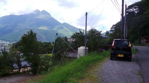 Beaux paysages de montagne sur la route pour Yufuin sur l'île de Kyushu