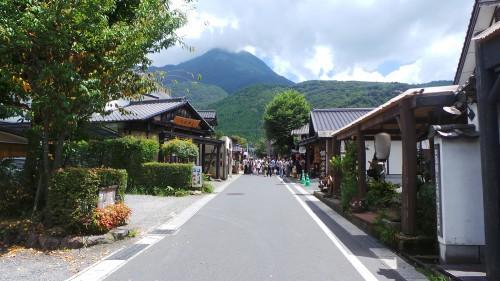 Vue de l'allée commerçante de Yufuin, préfecture d'Oita sur l'île de Kyushu